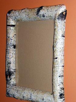 White birch log mirror woodwork pinterest birch for White birch log crafts