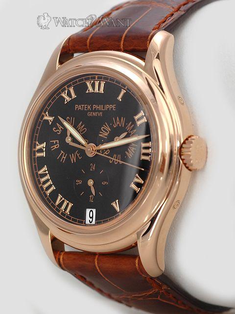 69910cef507 Patek Philippe Calatrava  Annual Calendar  5035R - 37mm 18K Rose Gold -  Rare Black Dial - Discontinued   Collectible
