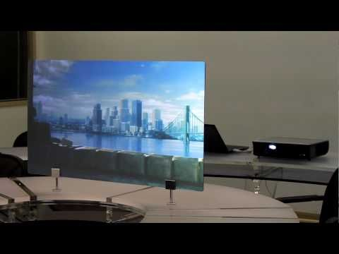 DIY Rear Projection Screen Approx $20, Cheap Homemade GREAT Picture! - YouTube