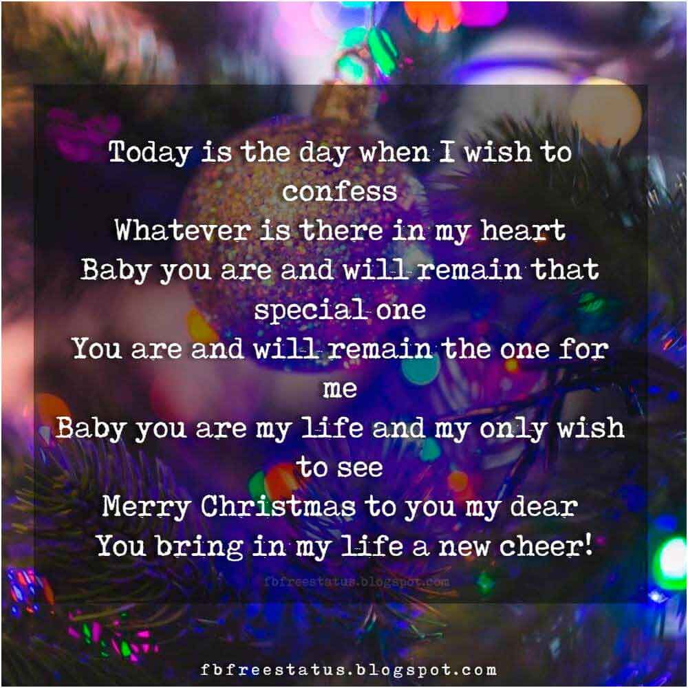 Christmas Love Quotes For Boyfriend And Girlfriend With Images