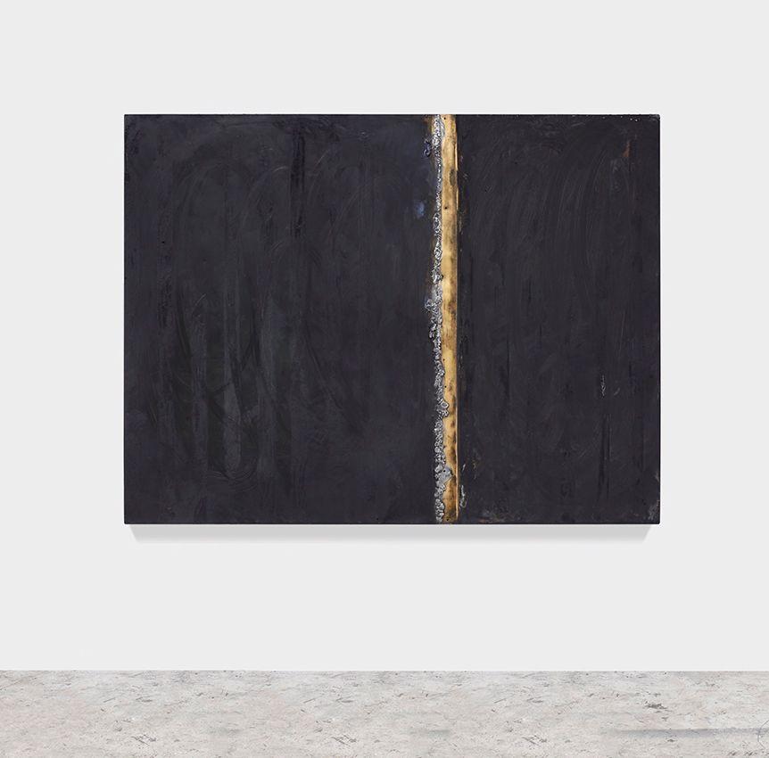 Single Moments 2017 Patina Oil Stick Solder On Solid Bronze Sheet Mounted On Aluminum Frame 48 X 63 Inches 121 9 X 160 Cm Artist Malerei Bilder Brooklyn