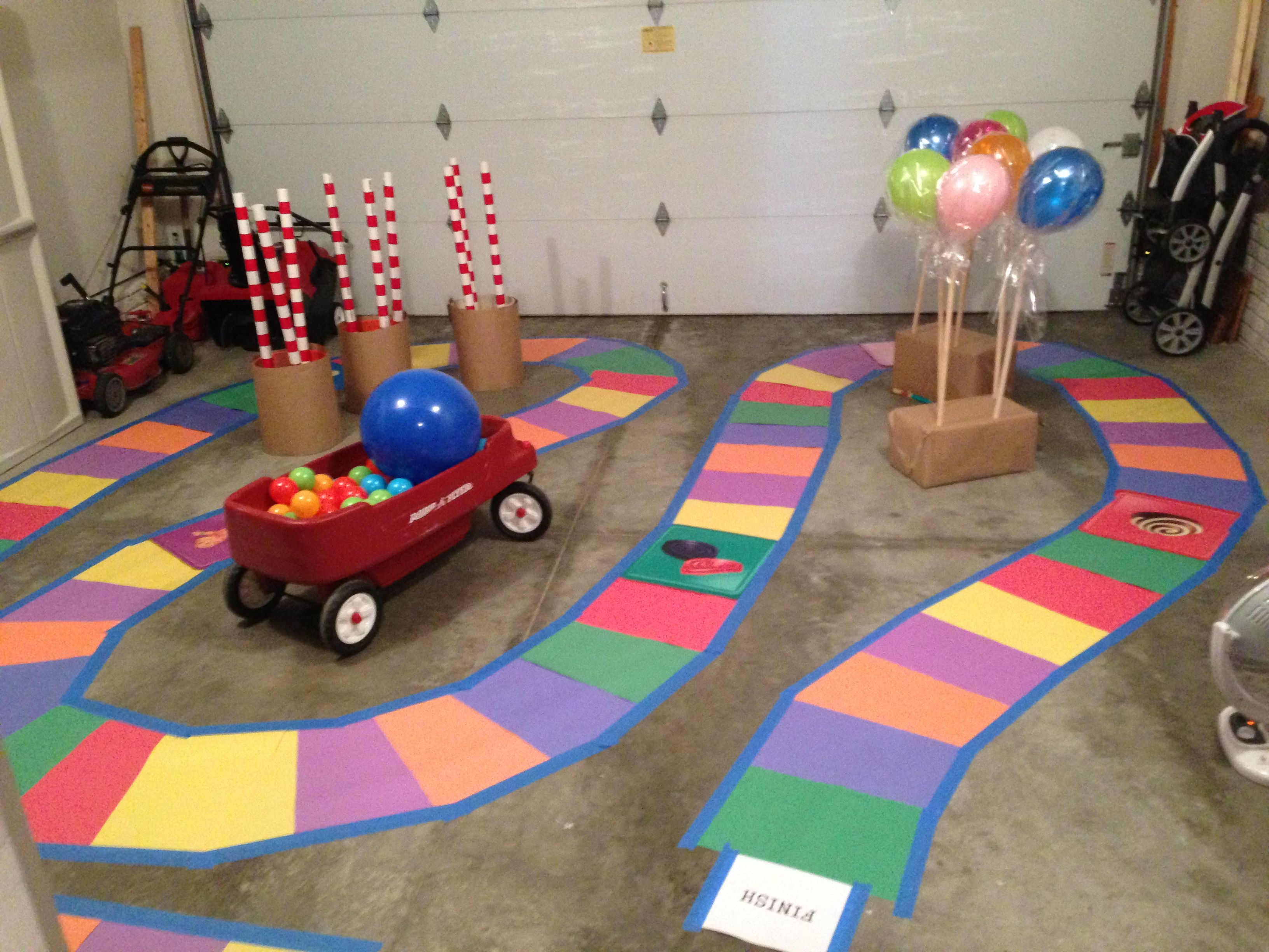 Giant Candyland board. Fun activity for the kids