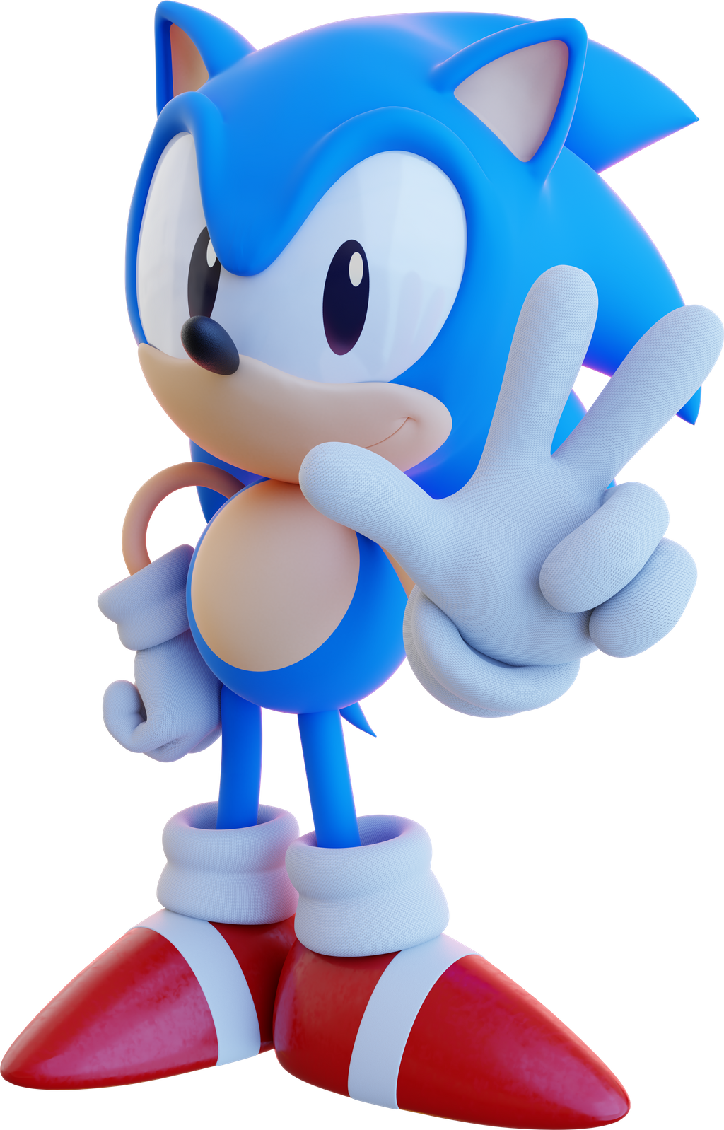 Classic Sonic Revamped By Spoonscribble On Deviantart Classic Sonic Sonic Sonic The Hedgehog