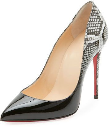 a976cfaab02 Christian Louboutin Pigalle Follies Ombre Snake-Print Red Sole Pump ...