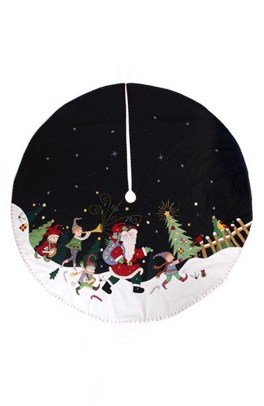 new world arts santa parade christmas tree skirt available at nordstrom - Nordstrom Christmas Eve Hours