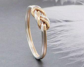 Alternative Engagement Ring Infinity Nautical Knot Ring Etsy Silver Engagement Rings Alternative Engagement Rings Gold And Silver Rings