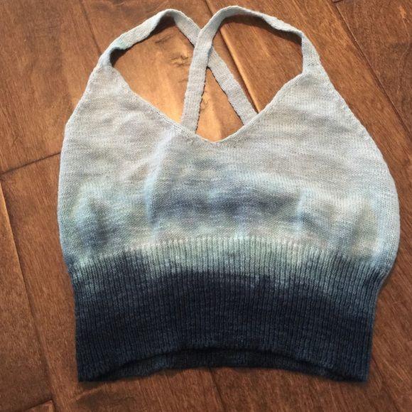 Truehitt Knit Tie Dye Ombre Crop Top NWOT Truehitt Knit Tie Dye Ombre Crop Top NWOT Anthropologie Tops Crop Tops