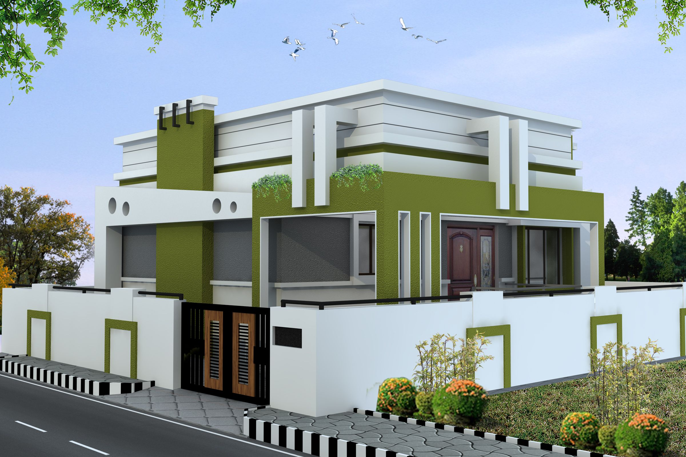 Chennai and its suburbs with thriving properties for sale for Exterior home design in chennai