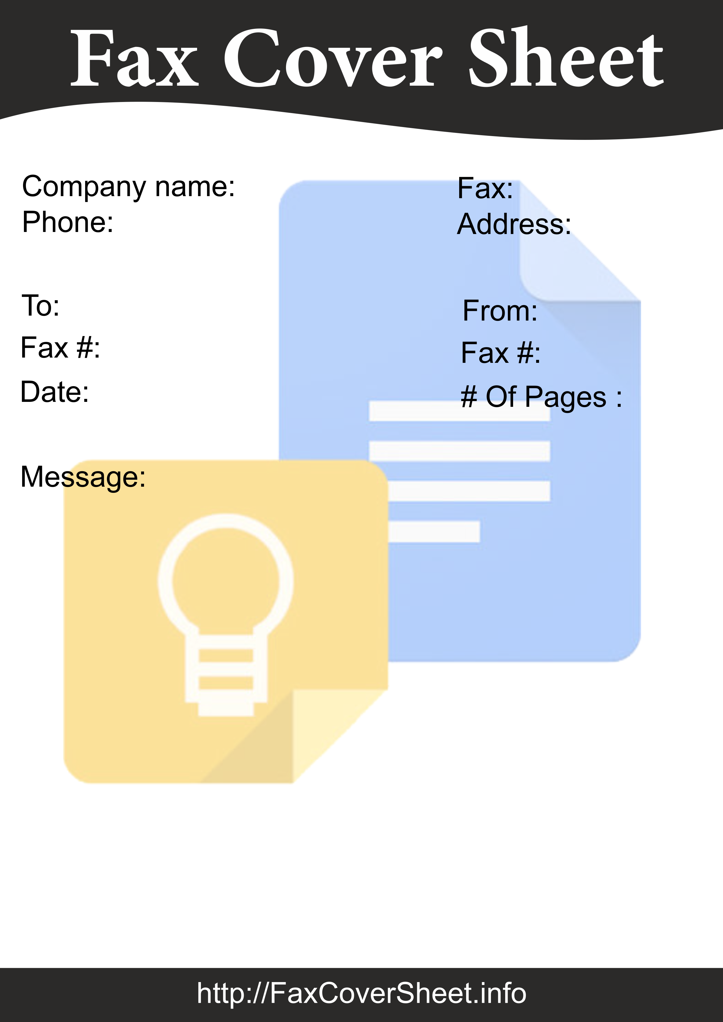ready to use google docs fax cover sheet printable templates
