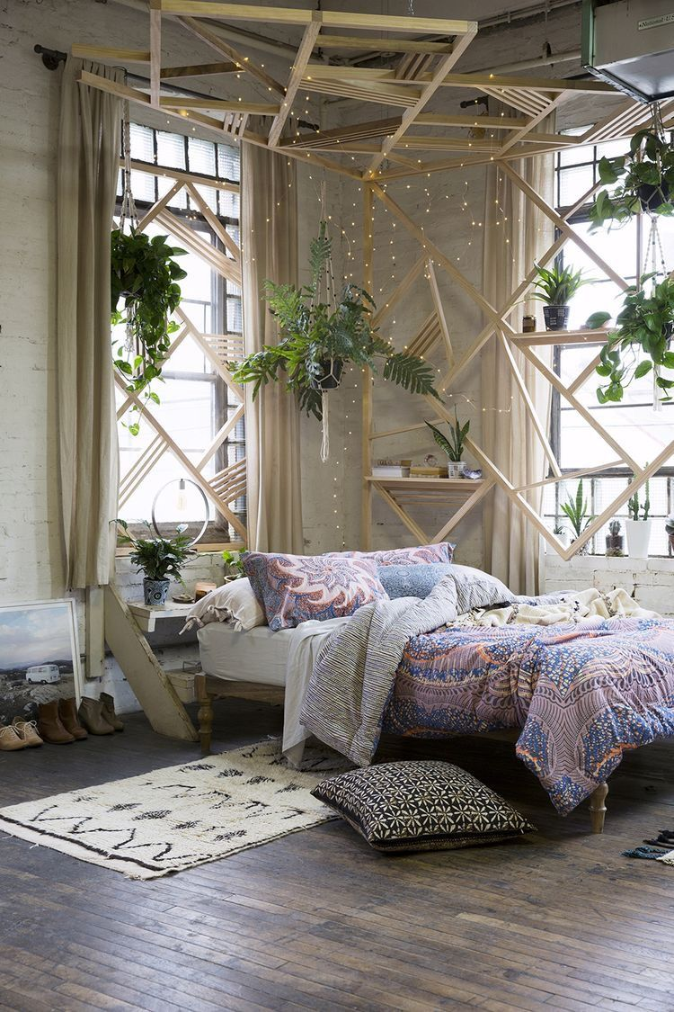 In Love With This Boho Themed Room The Plants Add So Much