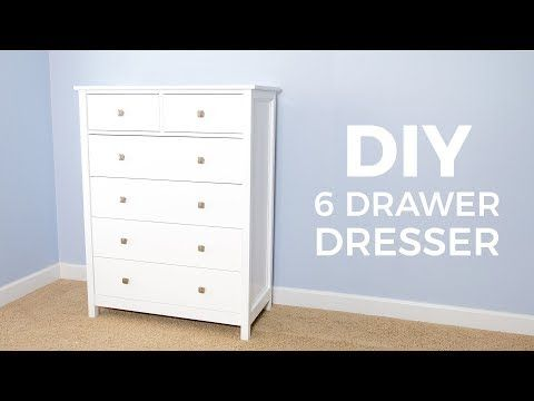 How To Build A Diy Dresser Ill Show You How To Make A 6 Drawer Tall Dresser With Materials From The Home Center And Easy Joinery