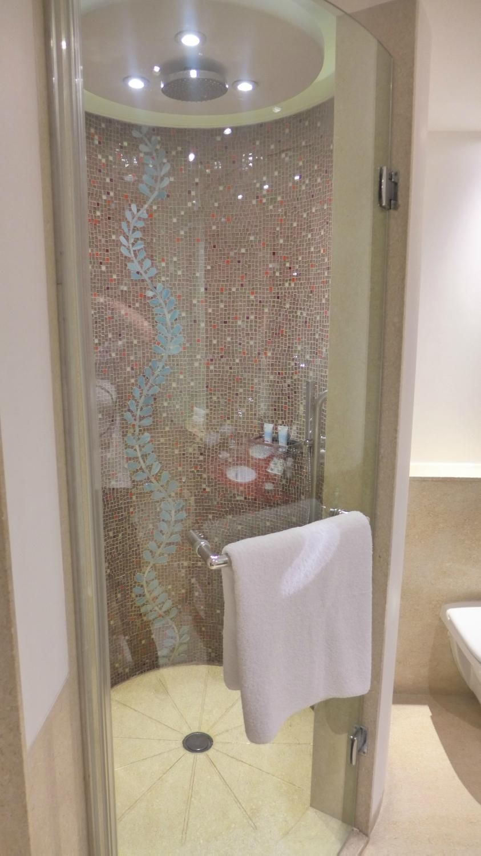 itc maurya new delhi (new delhi) - circular shower cubicle with