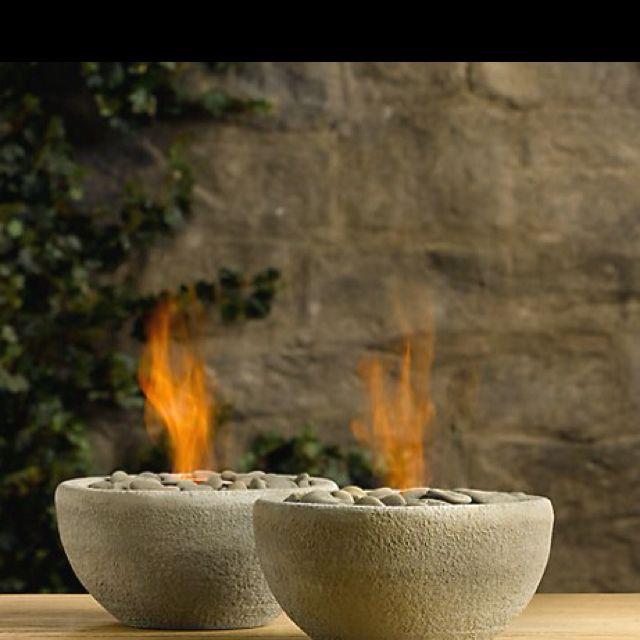 Rock, Bowl, Fire