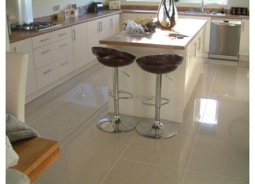 Polished Porcelain Cream Floor Tile 60x60cm Flooring Options