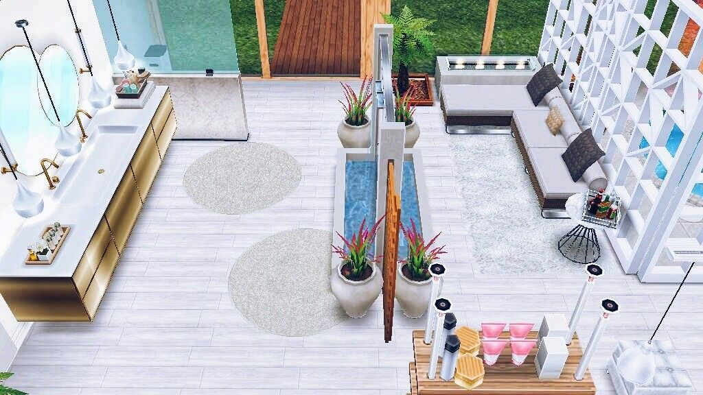 Pin De Maelle Em Sims Free Play Sims Free Play The Sims Banheiro De Luxo