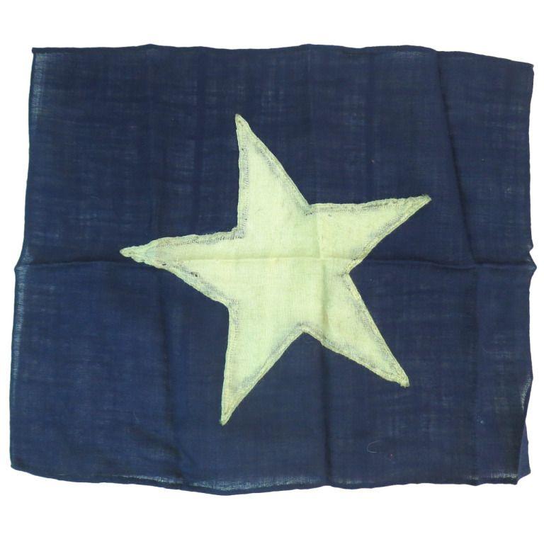 Naval Signal Flag Or Yacht Ensign Blauw Textiel