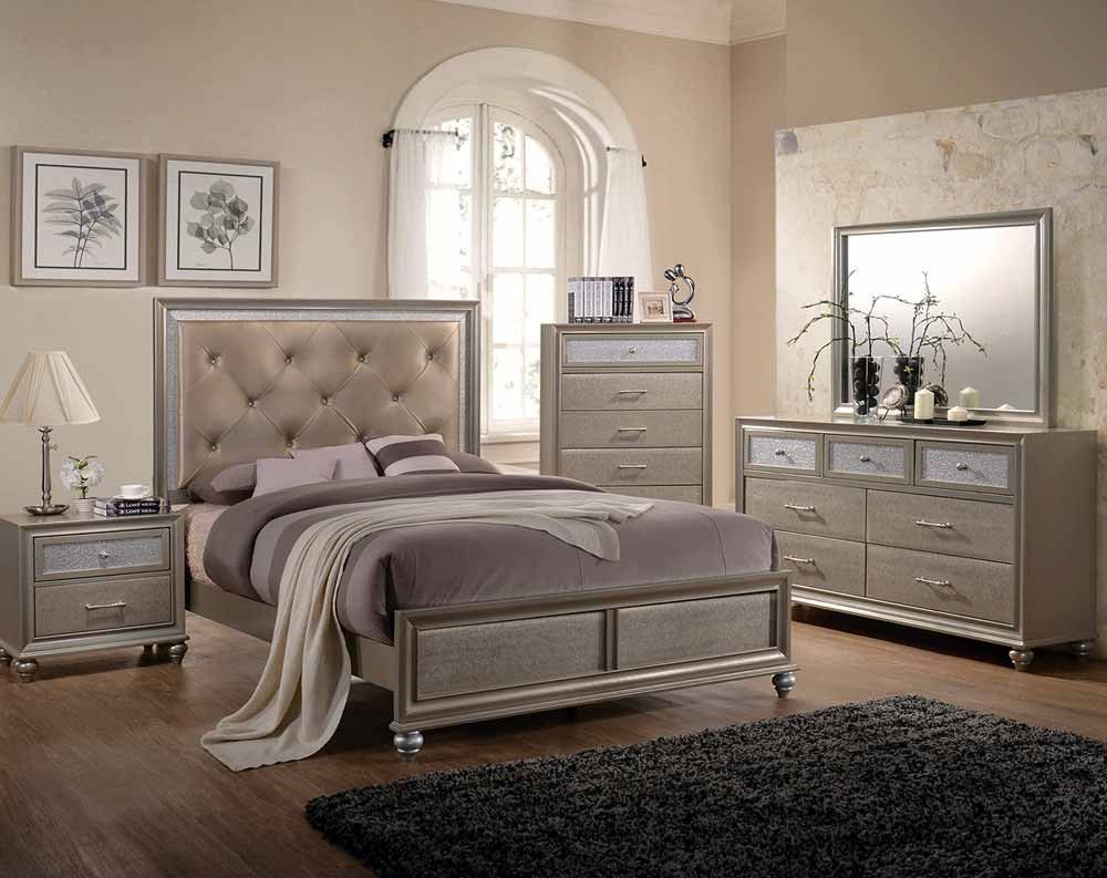 Best Lila Bedroom Collection Champagne Bedroom 400 x 300