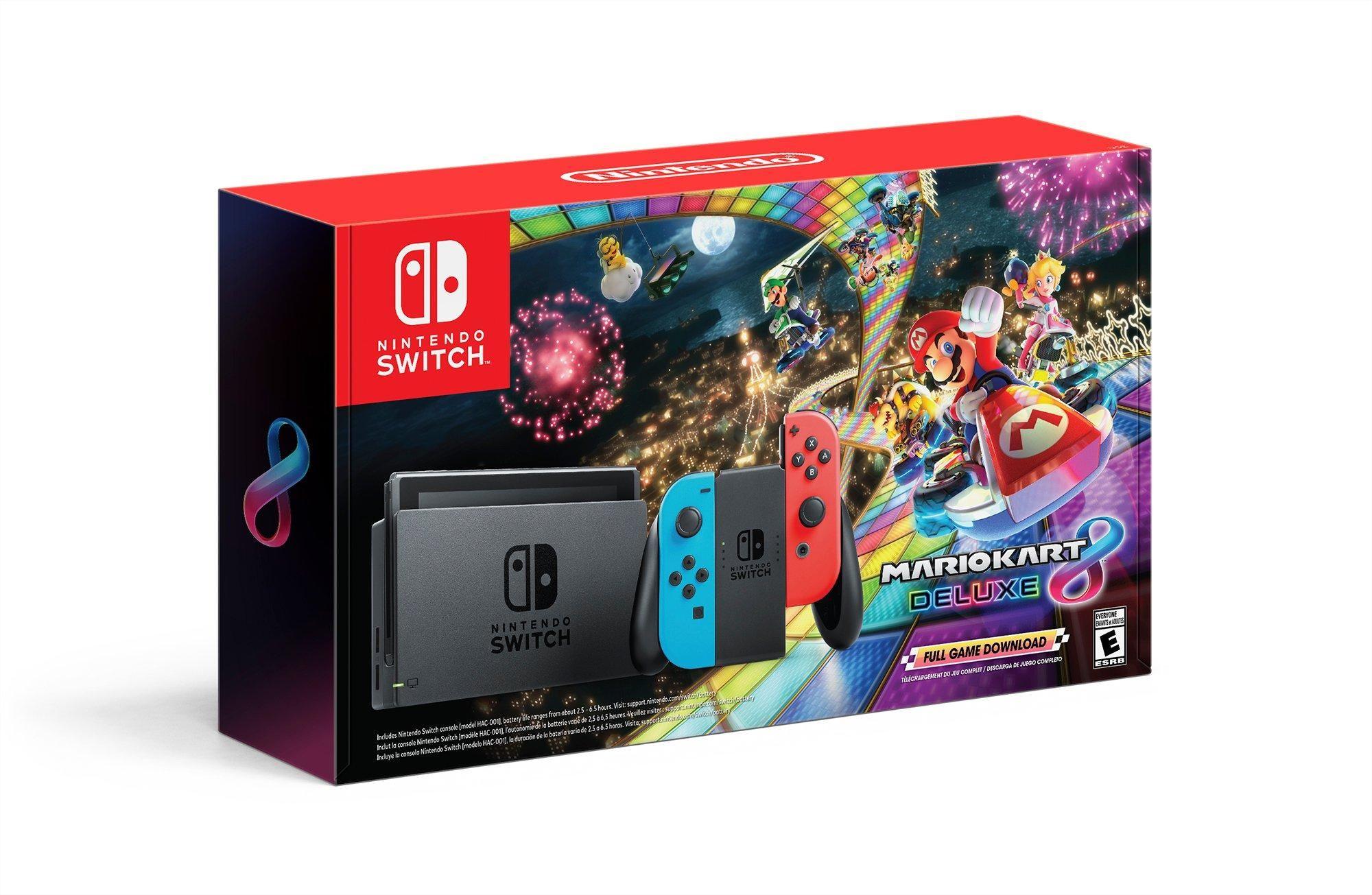 Nintendo Switch Mario Kart 8 Deluxe Bundle With Neon Blue And Neon Red Joy Con Nintendo Switch Gamestop Nintendo Switch Buy Nintendo Switch Mario Kart 8