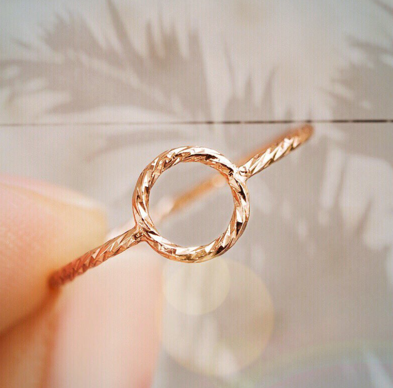 Circle gold ring! the simple gold ring is for the everyday girl ...