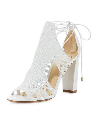 069841d7593c7 S0H8G Alexandre Birman Doria Woven Leather Block-Heel Sandal