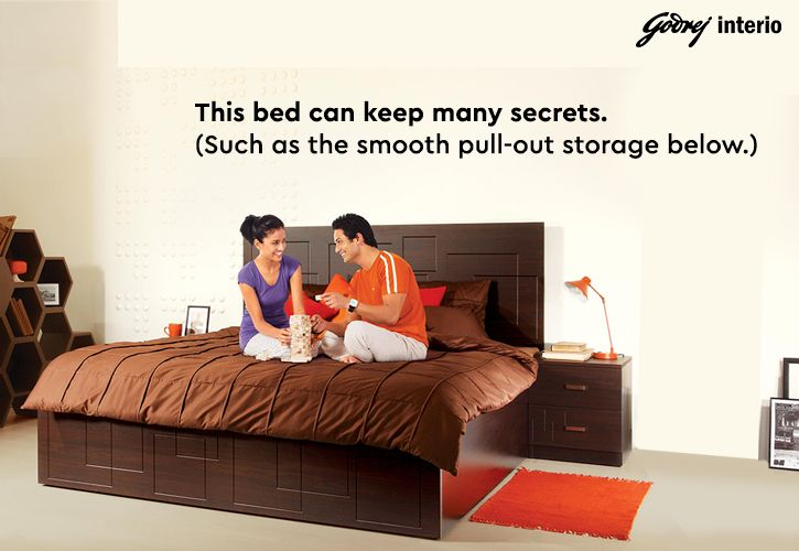 The Squadro Bed With Smooth Action Pull Out Storage Perfect For