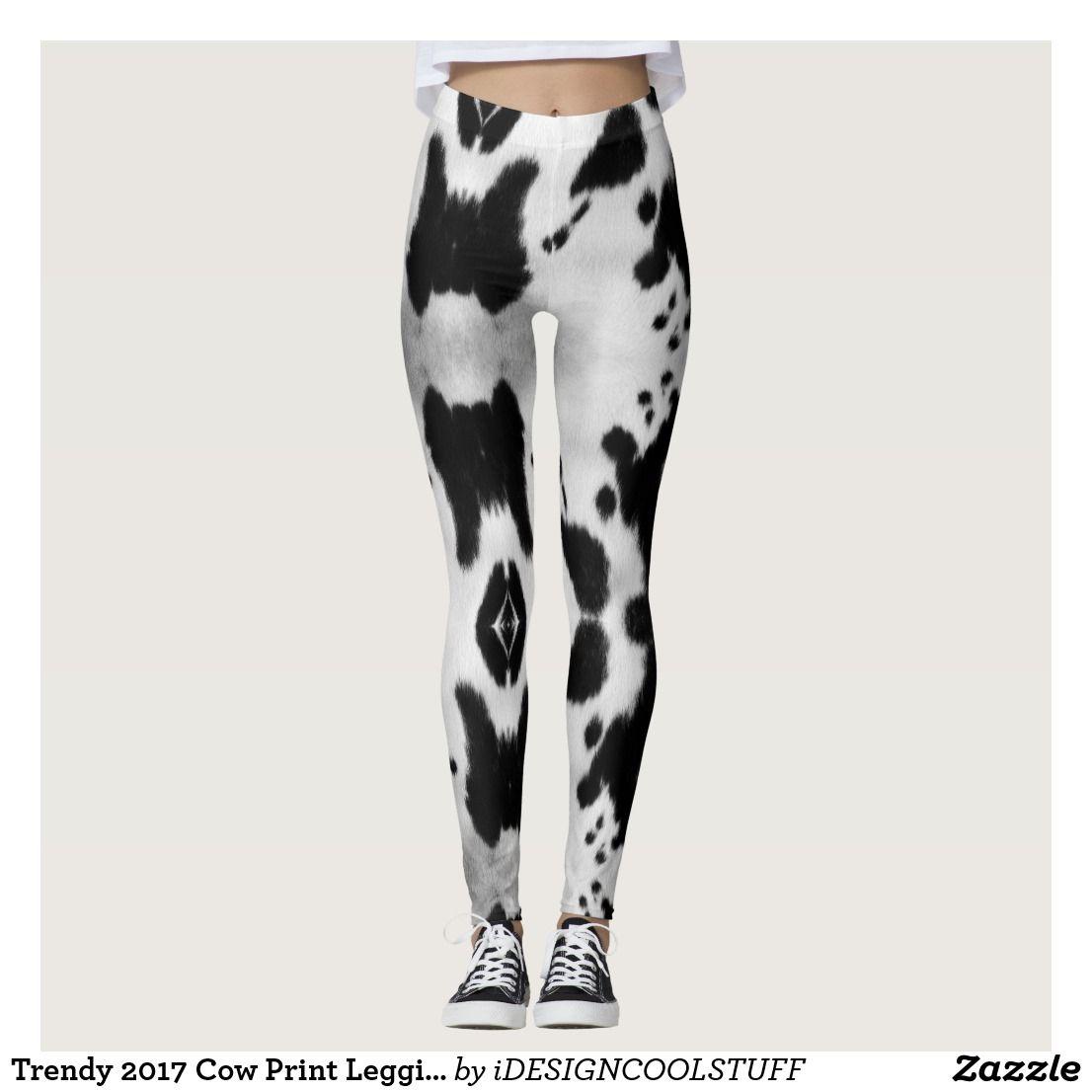 b31d87d6e59dcf Trendy 2017 Cow Print Leggings   Zazzle.com   Printed Leggings ...