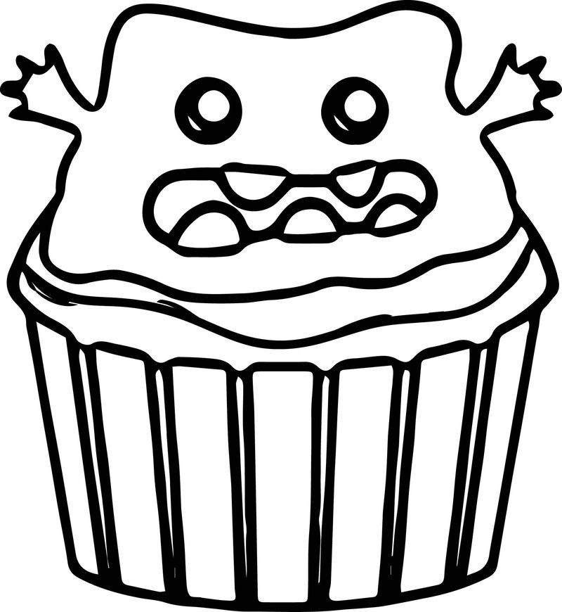 Coloring Pages Christmas Cupcake