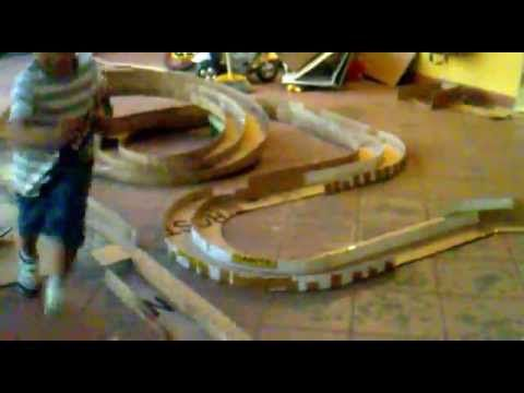 Track Mini 4WD Tamiya Homemade - YouTube