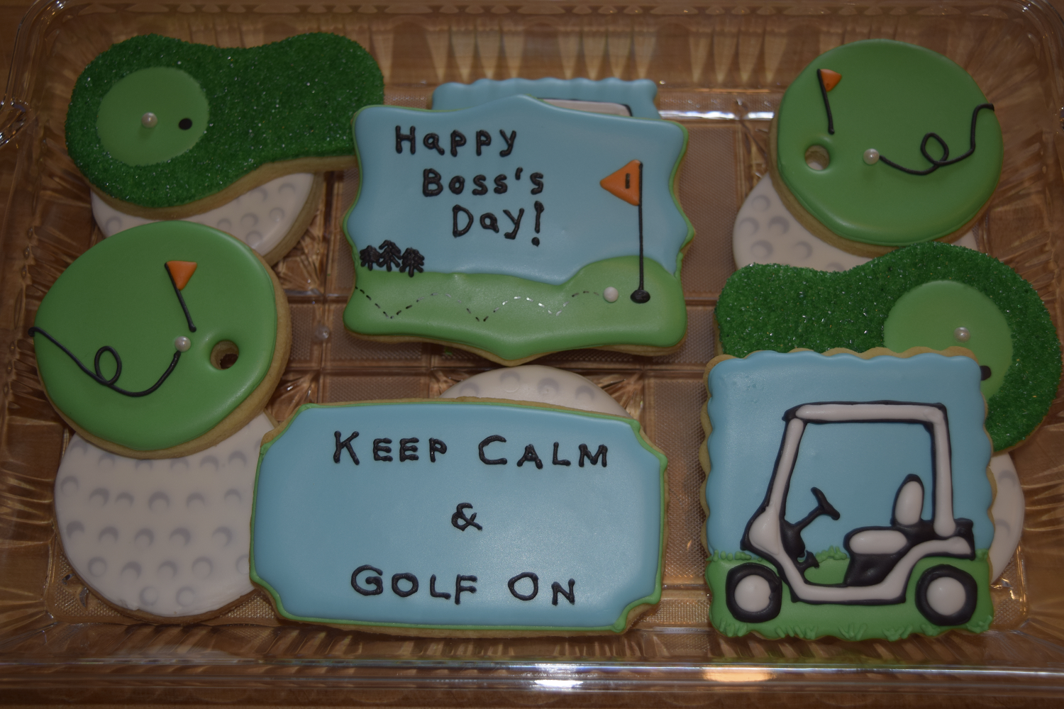 Happy Boss's Day Golf Platter