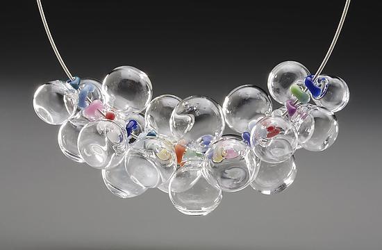 """""""Rainbow Bubble Necklace"""" by Melissa Schmidt"""
