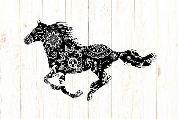 mandala horse svg zentagle horse svg horse clipart horse