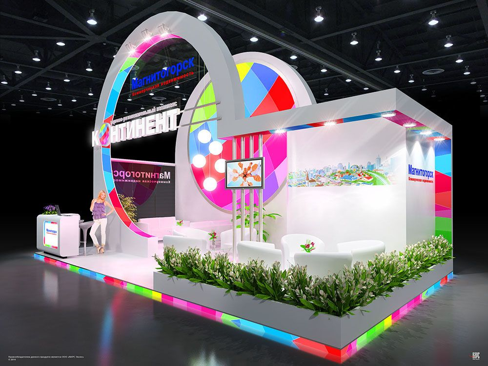 Exhibition Stall Lights : Custom exhibit booth with led internal lighting