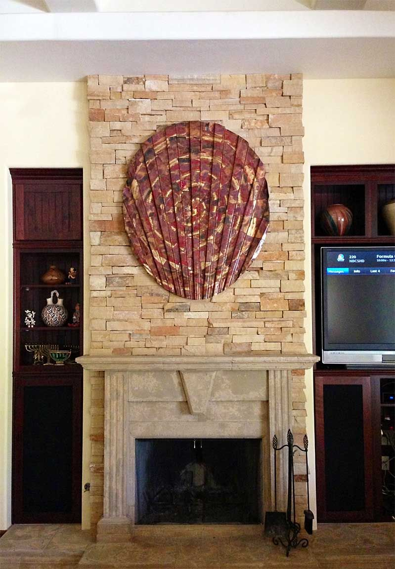 Copper Wall Art Over Fireplace Metal Wall Decor Metal Walls Copper Wall Art