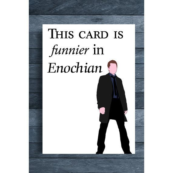 Supernatural Digital Download Castiel This Card is by OutlineArt – Supernatural Birthday Card