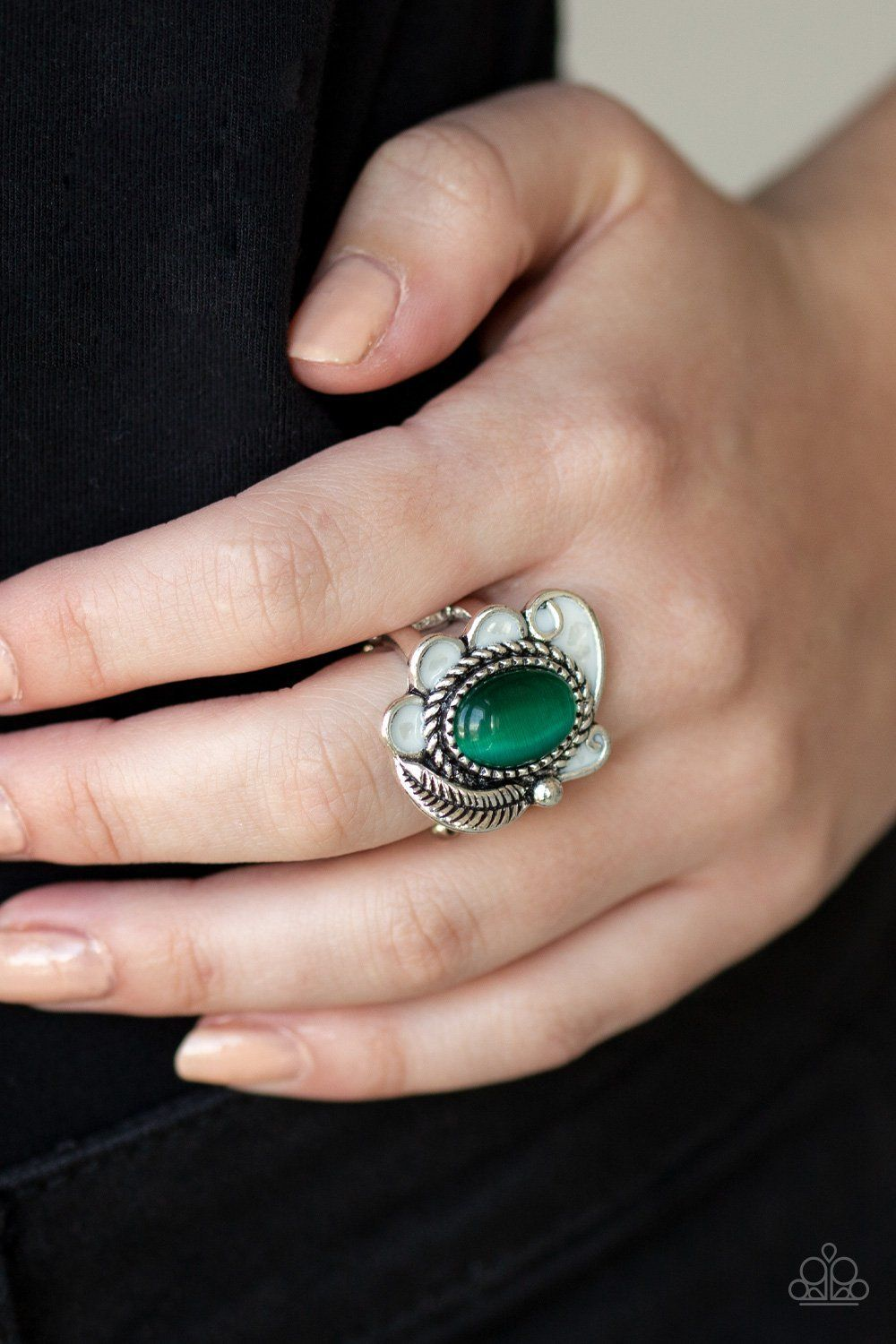 Fairytale Magic Green Moonstone Ring Paparazzi