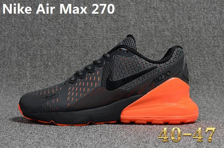 air max 270 black and orange