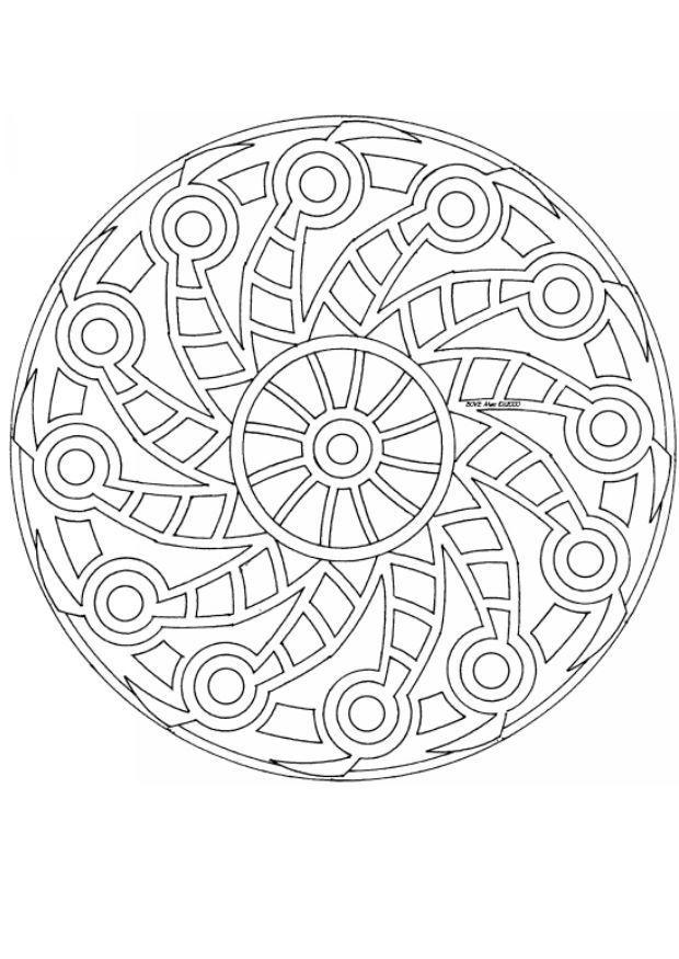mandala-4483.jpg (620×875)   МАНДАЛЫ-РАСКРАС   Pinterest   Mandalas ...