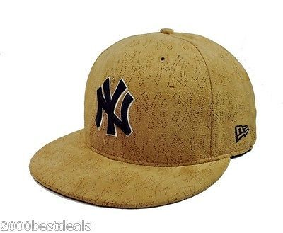 New Era 59fifty Fitted Hat Mlb New York Yankees Pinhole Tan Cap Size 7 3 4 5950 Fitted Hats Yankees Fitted Hat Hats For Men