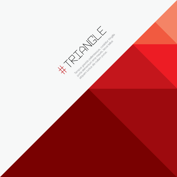 Red Triangle Background Vector Image Triangle Vector Graphic Design Themes Triangle Background