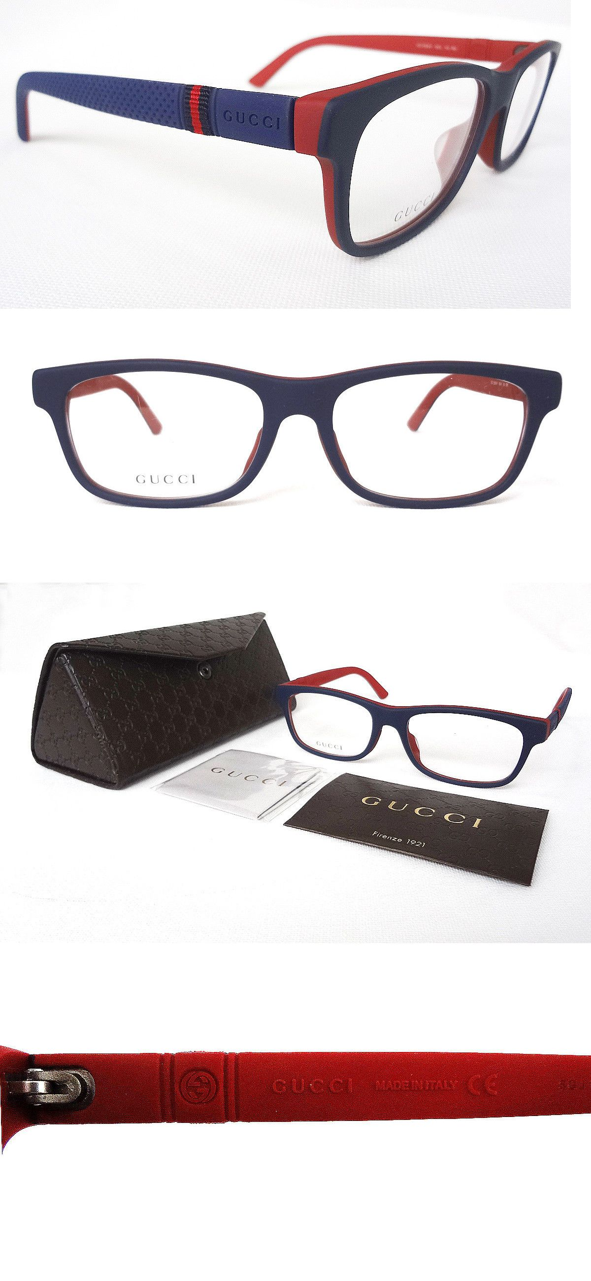7b80c3a700 Eyeglass Frames 180957  Gucci Men S Frame Glasses Gg9108 F Blue Red 54-17