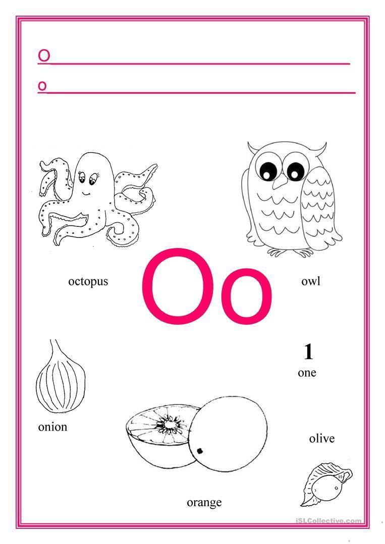 Preschool Alphabet Worksheets Free Printables Letter Worksheets In 2020 Letter O Worksheets Kindergarten Worksheets Alphabet Worksheets Free