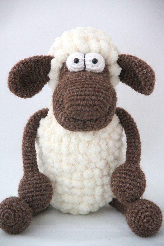 amigurumi sheep crochet safety eyes toy pompon yarn