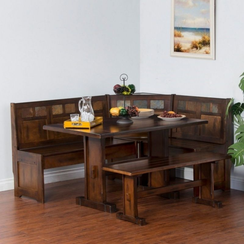 Nook Dining Tables Chelsea Dining Nook With Nook Dining: Comfy-corner-breakfast-nook-wood-dining-set-country