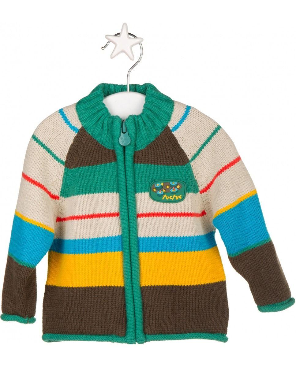 d64abd9a3 Tuc tuc Chaqueta de bebé niño tricot a rayas Estampado,bolsos tuc tuc el  corte