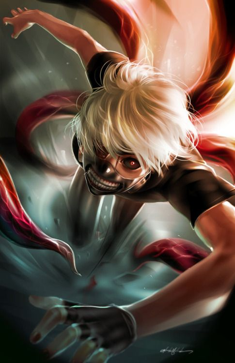 This is an amazing Tokyo ghoul fan art! I really love the motion in the hair too