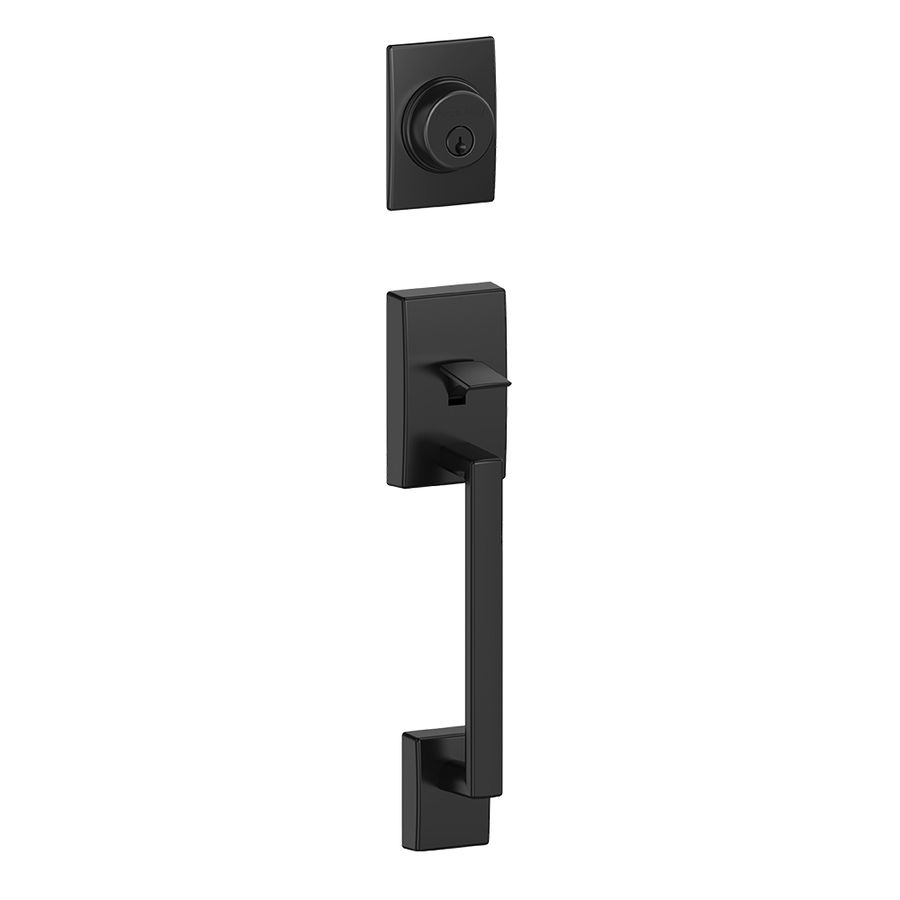 Schlage Century Adjustable Matte Black Entry Door Exterior Handle F58 Cen  622
