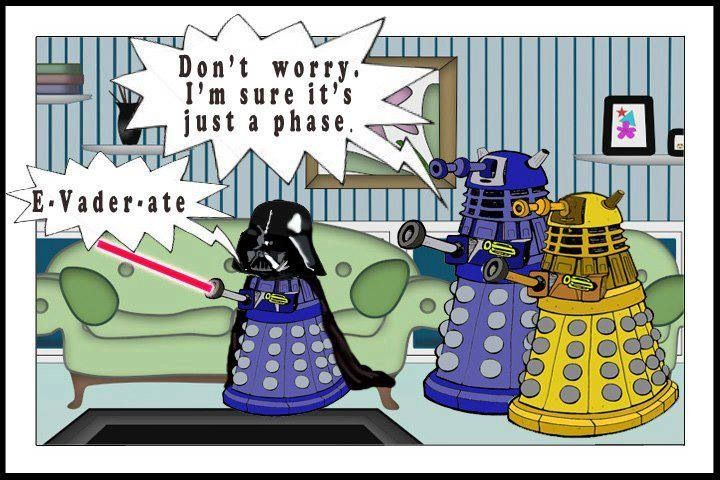 Doctor Who (Daleks) and Star Wars