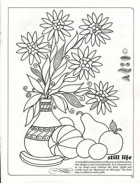 Красивый цветочный натюрморт с фруктами можно сделать ...