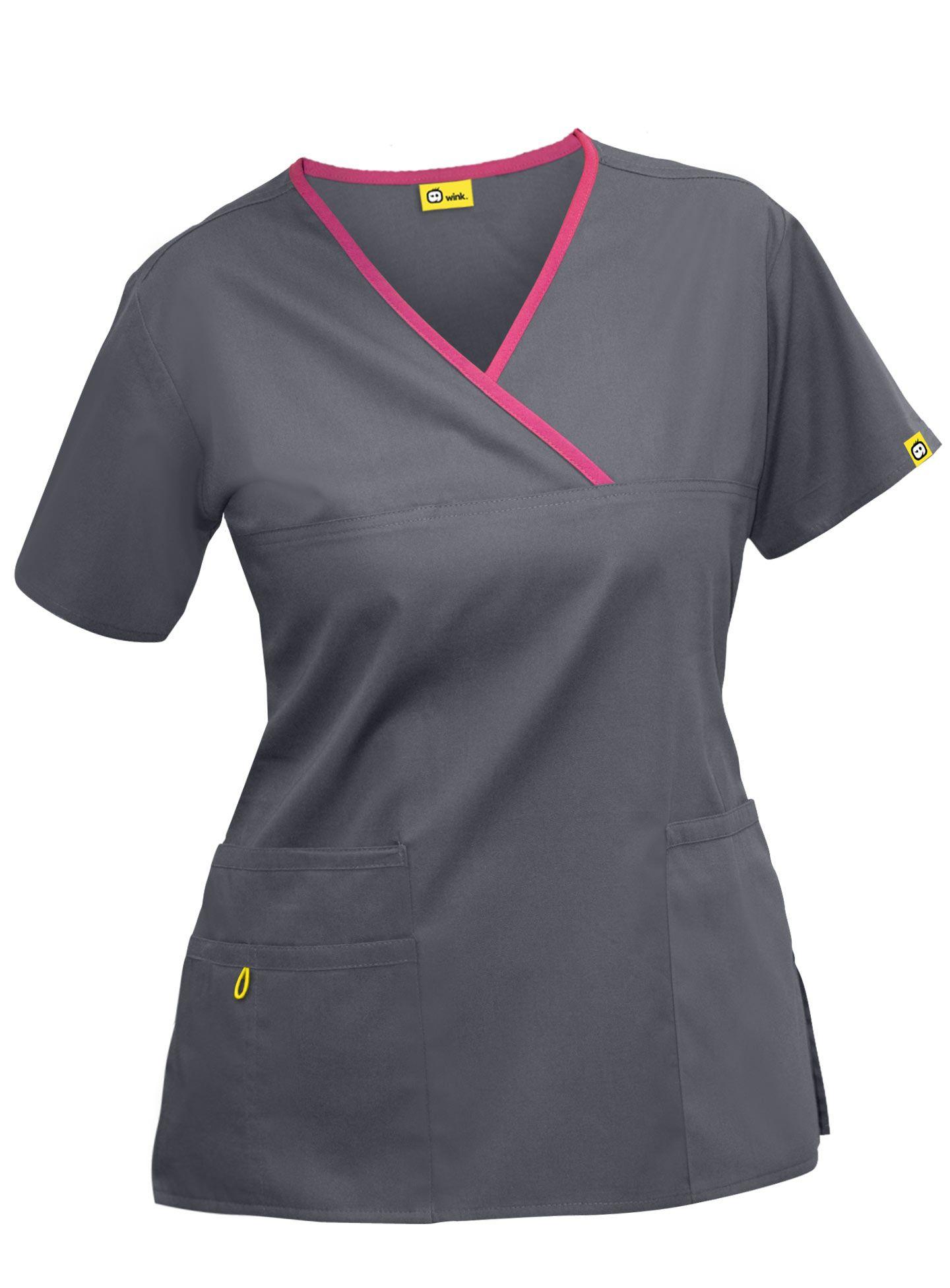Wonderwink 6026 womens charlie scrub top scrub tops for Spa uniform patterns