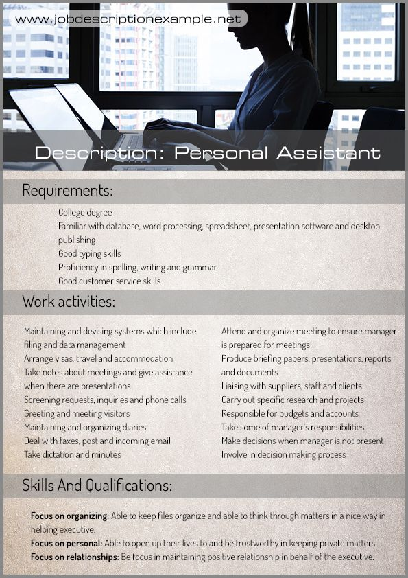 Pin by MarkWilliam on Job description example Pinterest Job